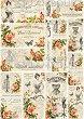 """Декупажна хартия - Пощенски картички 004 - Формат A4 от серията """"Petite"""" -"""