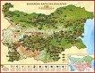 Луксозна стенна винарска карта на България - 152 производители -