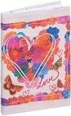 Текстилна подвързия за книга: Сърце - аксесоар