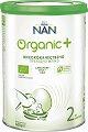 Висококачествено преходно мляко за кърмачета - Nestle NAN Organic 2 - Метална кутия от 400 g за бебета над 6 месеца -
