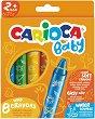 Акварелни маслени пастели - Baby - Комплект от 8 цвята -