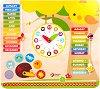 Научи календара и часовника - Дървена образователна играчка -