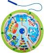 Магнитен лабиринт - Влак - Детска логическа игра -