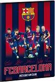 Ученическа тетрадка - ФК Барселона Формат А4 с широки редове - тетрадка