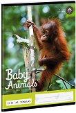 Ученическа тетрадка - Орангутан : Формат А5 с широки редове - 32 листа - тетрадка