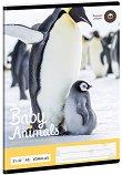 Ученическа тетрадка - Пингвин : Формат А5 с широки редове - 32 листа -