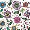 Салфетки за декупаж - Рисувани цветя - Пакет от 20 броя -