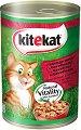 Kitekat Can Beef in Gravy Adult - Говеждо месо в сос грейви за котки в зряла възраст - консерви от 400 g и 800 g -