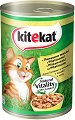 Kitekat Can Chicken in Gravy Adult - Пилешко месо в сос грейви за котки в зряла възраст - консерви от 400 g и 800 g -