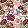 Салфетки за декупаж - Рози и пеперуди - Пакет от 20 броя -