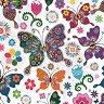 Салфетки за декупаж - Пеперуди и цветя - Пакет от 20 броя -