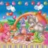 Салфетки за декупаж - Динозавърчетата празнуват - Пакет от 20 броя