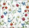 Салфетки за декупаж - Диви цветя - Пакет от 20 броя -