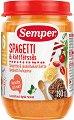 Semper - Пюре от спагети с говеждо месо - Бурканче от 190 g за бебета над 6 месеца -