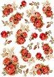 Декупажна хартия - Червени рози - Формат А4 -