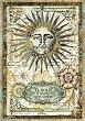 Декупажна хартия - Алхимично слънце - Формат А4 -