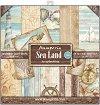 Хартии за скрапбукинг - Плаж - Комплект от 10 броя с размери 30.5 x 30.5 cm -
