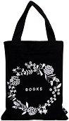 Текстилна чанта за книги - Цветя -