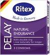 Ritex Delay Natural Endurance - Презервативи за удължено удоволствие в опаковка от 3 броя -