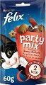 Felix Party Mix Mixed Grill - Лакомство с телешко, пилешко и сьомга за котки в зряла възраст - опаковка от 60 g -
