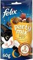 Felix Party Mix Original Mix - Лакомство с птиче месо за котки в зряла възраст - опаковка от 60 g -