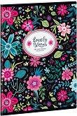 Ученическа тетрадка - Evening Blooms : Формат А5 с широки редове - 40 листа -
