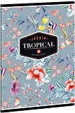 Ученическа тетрадка - Tropical Butterfly : Формат А5 с широки редове - 40 листа - тетрадка