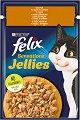 Felix Sensations Jellies with Chicken and Carrots - Пилешко месо и моркови в желе за котки в зряла възраст - пауч 100 g -