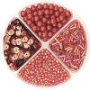 Мъниста за декориране - червени - Опаковка от 30 g -