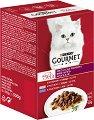 Gourmet Mon Petit Meat Selection - Месни филета в сос за котки в зряла възраст - опаковка от 6 пауча x 50 g -