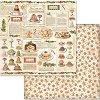 Хартия за скрапбукинг - Коледни сладкиши - Размери 30.5 х 30.5 cm -