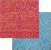 Хартия за скрапбукинг - Цветчета - Размери 30.5 х 30.5 cm -
