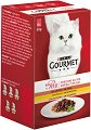 Gourmet Mon Petit Poultry Selection - Птиче месо в сос за котки в зряла възраст - опаковка от 6 пауча x 50 g -