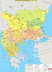 Стенна карта: България при Асеневци (1185 - 1241) -