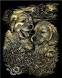 Кученца - Скреч картина с размери 20 x 25 cm -