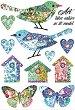 Декупажна хартия - Птици и пеперуди - Формат А4 -