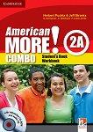 American More! - ниво 2 (A2): Комплект по английски език Combo A - част 1 + CD / CD-ROM - учебна тетрадка