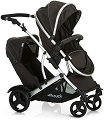 Комбинирана бебешка количка за близнаци - Duett 2: Black -
