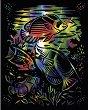 Риби - Скреч картина с размери 20 x 25 cm -