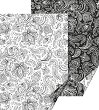 Картон за скрапбукинг - Zenart Paisley - Размер 50 х 70 cm -