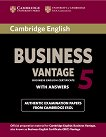 Cambridge English Business Vantage - ниво B2: Учебник с отговори : Fifth Edition -