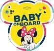 Табела с надпис Baby on Board - Мини Маус - Аксесоар за автомобил -