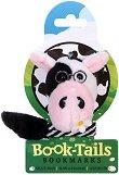 Плюшен книгоразделител с опашка - Крава -