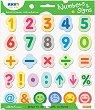 Самозалепващи листчета - Цифри и символи - Комплект от 420 листчета с височина 3.5 cm -