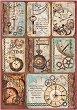 Декупажна хартия - Часовникови карти - Формат А4