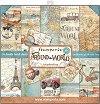 Хартии за скрапбукинг - Around The World - Комплект от 10 броя -