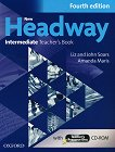 New Headway - Intermediate (B1): Книга за учителя по английски език + CD-ROM : Fourth Edition - John Soars, Liz Soars, Amanda Maris - учебник