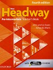 New Headway - Pre-Intermediate (A2 - B1): Книга за учителя по английски език + CD-ROM : Fourth Edition - John Soars, Liz Soars, Amanda Maris -