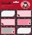 Етикети за тетрадки - La Coccinelle - Комплект от 18 броя -