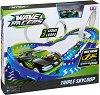 Wave Racers - Triple Skyloop - Комплект писта и състезателна кола със сензор за движение -